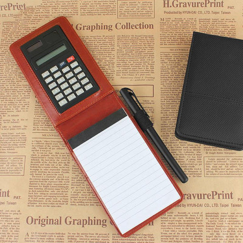 Creative Stationery PU Leather Notepad Planner with Mini Calculator - UYL Online Store