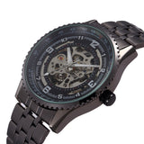 Sewor Skeleton Style Watch with Stainless Steel Band