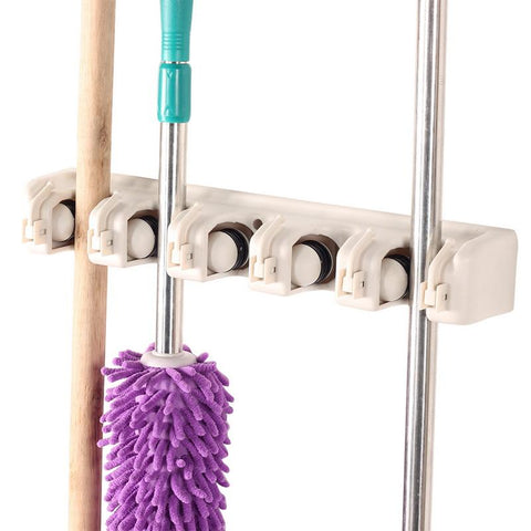 WALL MOUNTED MOP U0026 BROOM HOLDER
