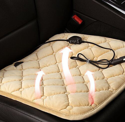 Heated Car Seat Cushion - Carbon Fiber