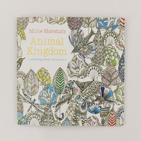 Animal Kingdom English Edition Coloring Book For Adult And Children