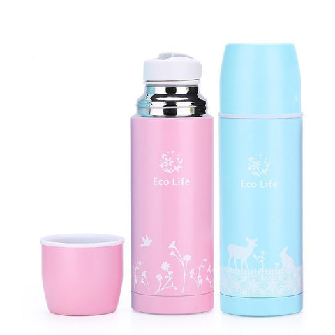 Stainless Steel Thermos Cup Cartoon Deer Design
