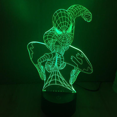 3D Spiderman LED illusion Night Light With Color Changing Touch Switch - UYL Online Store