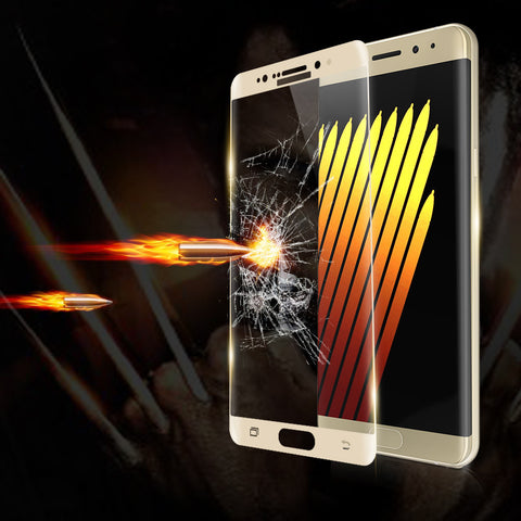 Tempered Glass Screen Protector Front Case For Galaxy Note 7