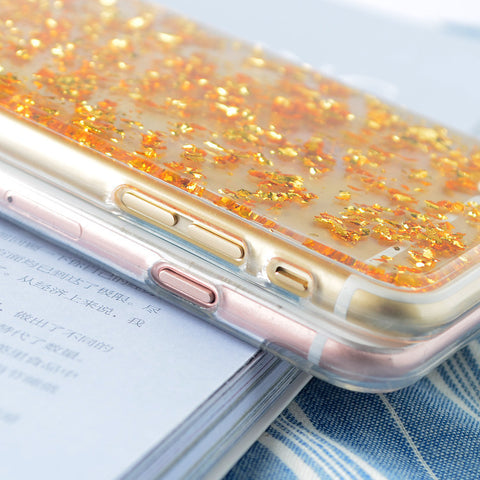 Gold Foil Soft Silicon Case for iPhone FREE plus Shipping Offer - UYL Online Store