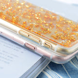 Gold Foil Soft Silicon Case for iPhone