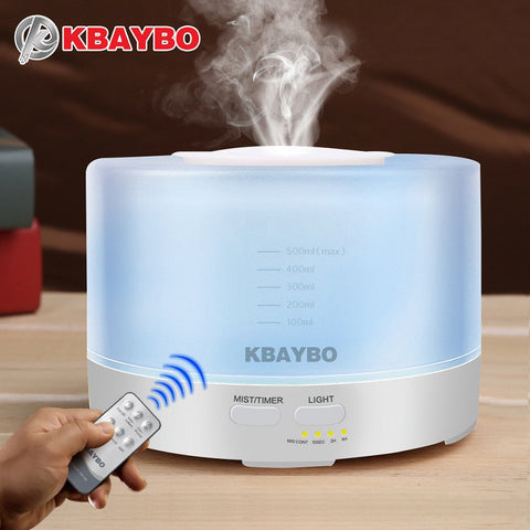 Remote Control Ultrasonic Air Aroma Humidifier 500ml - UYL Online Store