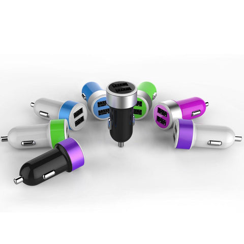 5V 2.4A/3.1A/4.8A Speed Charge Colorful Dual USB Port Car Charger - UYL Online Store
