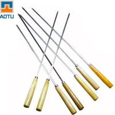 7 Pcs Stainless Steel Barbecue Accessories Needle Skewers with Wooden Handle - UYL Online Store