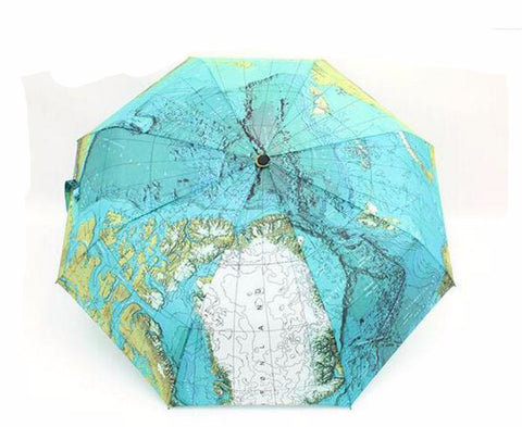 High Quality Graphic 3 Folding Manual and Fully-Automatic Map Umbrella - UYL Online Store