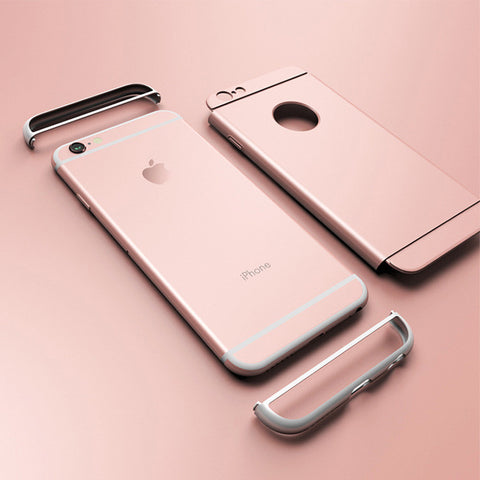 Luxury Fashion Frosted Contracted type Removable Combination Silicone Plastic Phone Case for iPhone