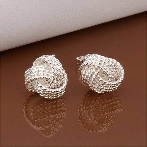 Silver Plated Ball Stud Earrings - UYL Online Store