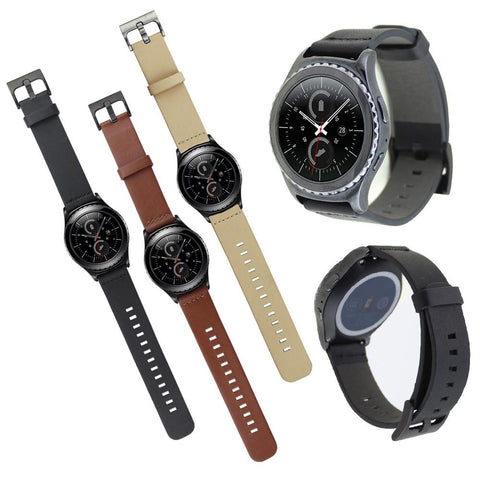 Leather Watchband Strap for Samsung Galaxy Gear S2 Classic