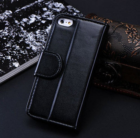 Leather Case Photo Frame Wallet Book Cover For IPhone 5C - UYL Online Store