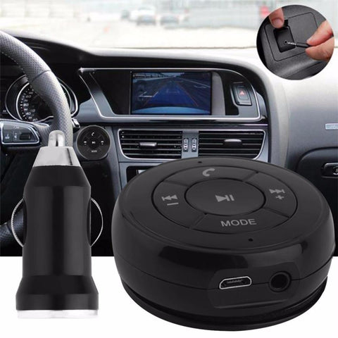 Bluetooth Music Audio Receiver Adapter and Handsfree Car kit for MP3 Music and All Smart Phones
