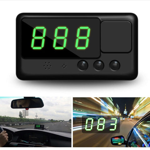 Universal Car HUD GPS Speedometer with Digital Projection and Over-speed Warning Mph/Kph