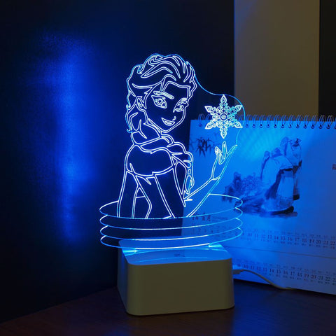 Elsa 3D Lamp Besides Lights - UYL Online Store