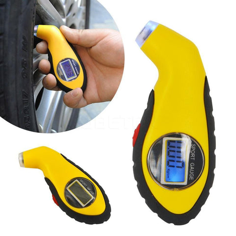 Auto Tire Pressure Gauge Tester with LCD Display