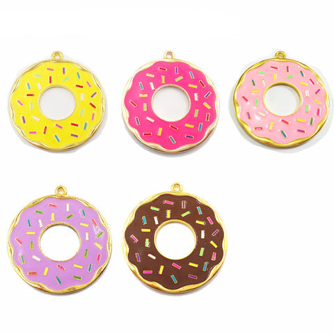 Full Enamel Donut Pendants