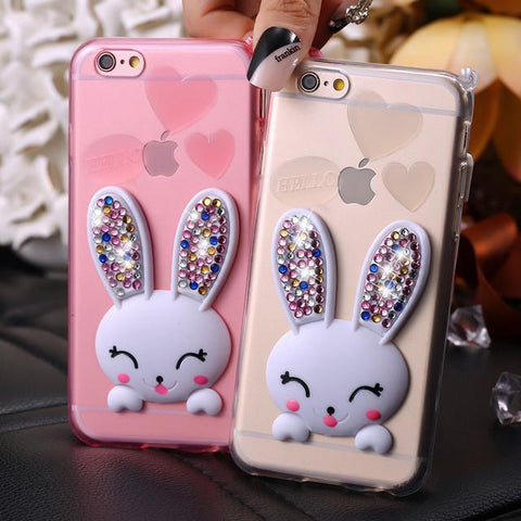 Colorful Diamond Rabbit Back Capa Case For iPhone 6 6S 4.7 For iPhone6 Plus /6S Plus - UYL Online Store