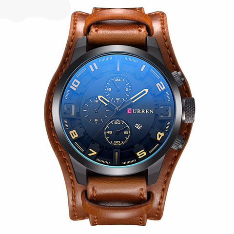 Curren 8225 Men's Watch with Genuine Leather Strap