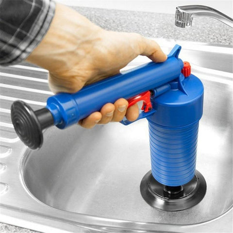 Home High Pressure Air Drain Blaster Plunger Sink Clog Remover Kit