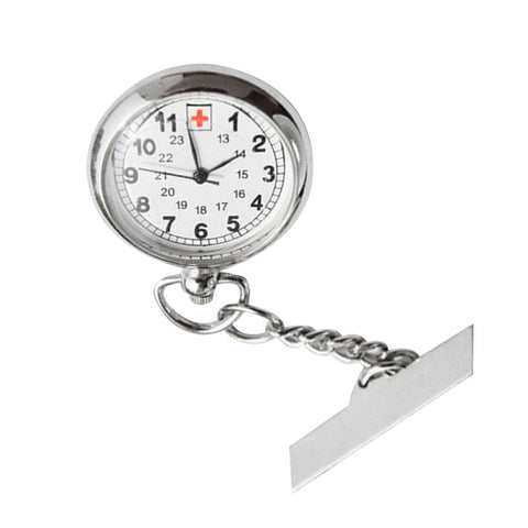 Large Face Nurses Pocket Fob Watch on a Bar with a Brooch Back - UYL Online Store