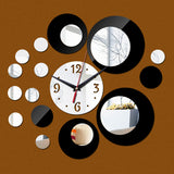 Europe Acrylic Large Pattern Mirror Wall Stickers DIY Wall Clock - UYL Online Store