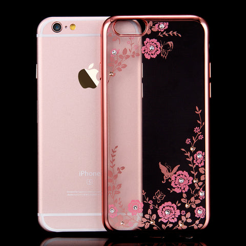 FLOVEME Flora Diamond Silicon Case for iPhone 7 /6 /6S - UYL Online Store