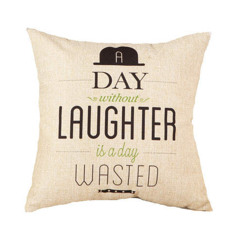 Fashion Letter Cushion Statement Pillow Case