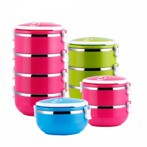 Portable Stainless Steel Thermos Lunch Box Thermal Food Container