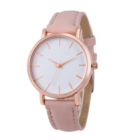 Unisex Leather Stainless Quartz Wrist Watches