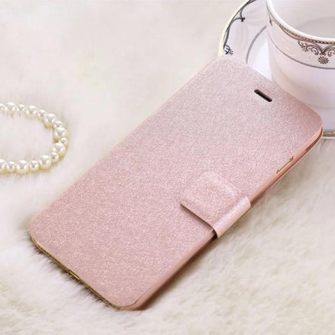 Card Pouch Luxury Silk Pattern Leather Flip iPhone 7 Plus Case - UYL Online Store
