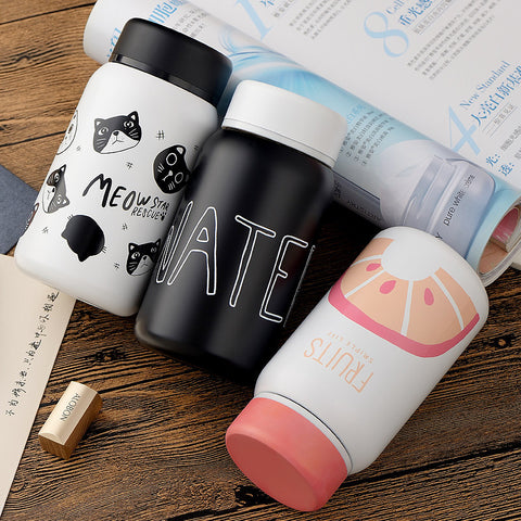 Stainless Steel Cat Cartoon Design Thermos Vacuum Flask