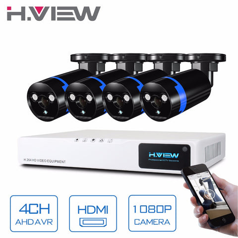 Security Camera System 4ch CCTV System DVR DIY Kit 4 x 1080P Security Camera 2.0mp Camera Surveillance System