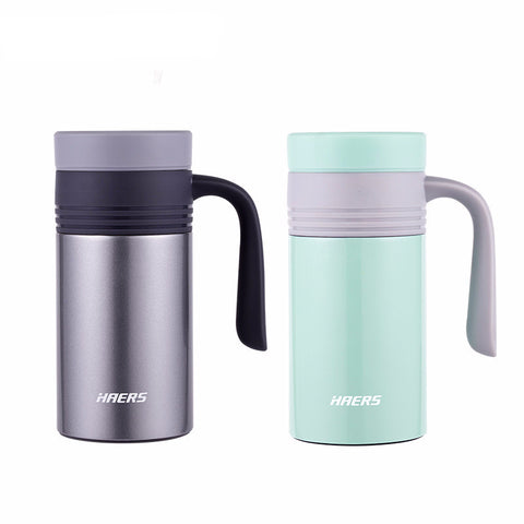 Vacuum Insulated Stainless Steel Thermo Mug Leak Proof Coffee Thermos With Handgrip