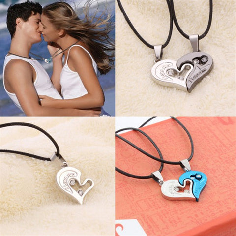 High Quality Couple Necklace I Love You Heart Shaped Pendant