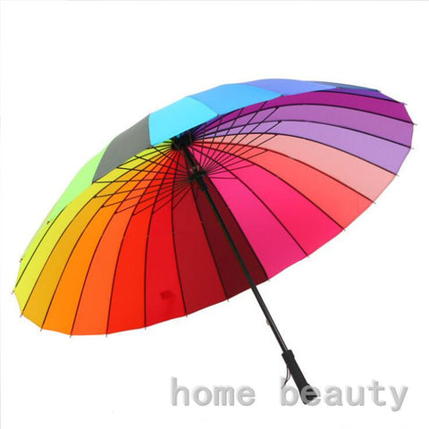 High quality Large Rainbow Long Handle umbrella - UYL Online Store