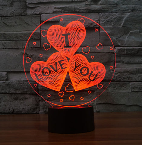 Illusion I Love You For Valentine's Day Gift 3D LED Night - UYL Online Store