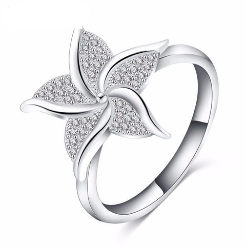 Star Shape Silver Plated Women's Ring
