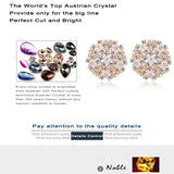 Flower Shape Silver And Gold Earrings - UYL Online Store