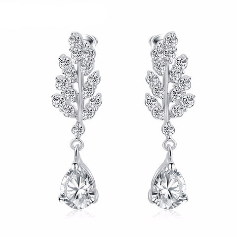 Leaf Silver Dangling Earring