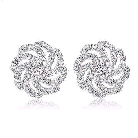 Romantic Pin Silver Earrings