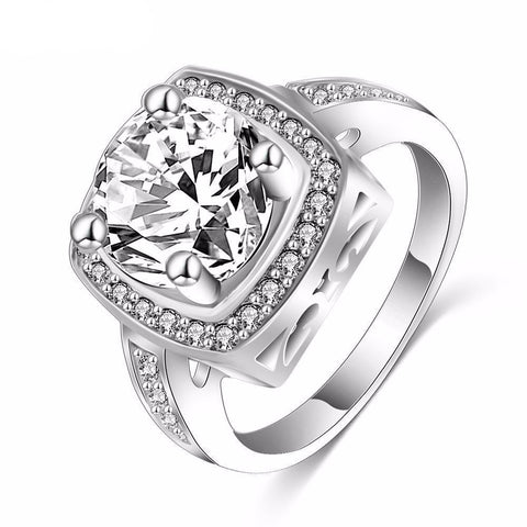 Zircon Square Women's Ring