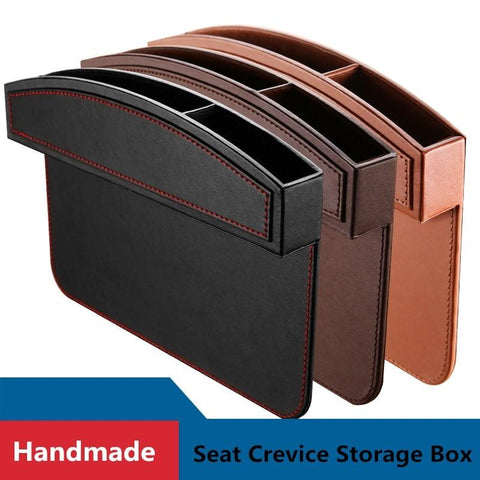 Leather Car Seat Pockets Crevice Storage Box Organizers Console - UYL Online Store