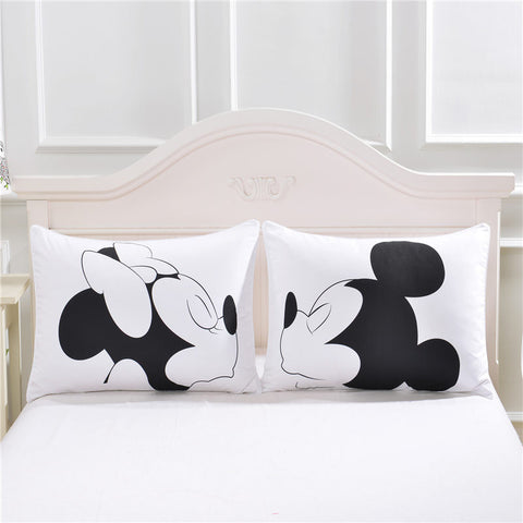 Mickey and Minnie Cute Character Couple Pillow Case