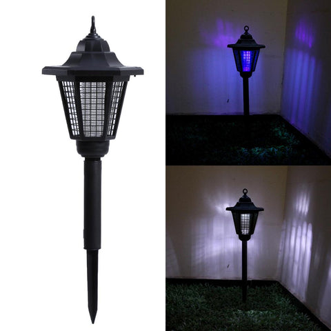 Solar Powered LED UV Mosquito Killer Insect Pest Bug Zapper Killer Lamp