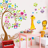 Cartoon Animal Forest Wall Sticker Decals for Nursery Kids Room - UYL Online Store