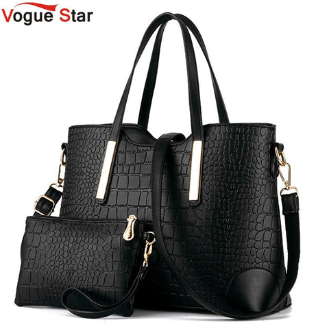 Women Crocodile Leather Shoulder Messenger Handbag Clutch Tote and Purse