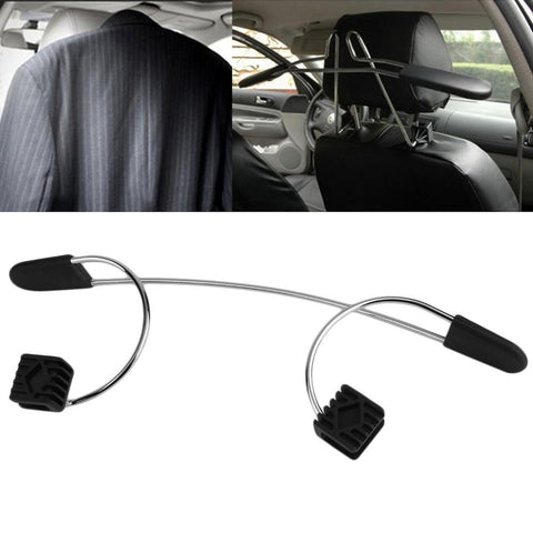 Metal Car Coat Hanger for Seat Headrest - Clothes Jackets Suits Holder with Hook Accessories